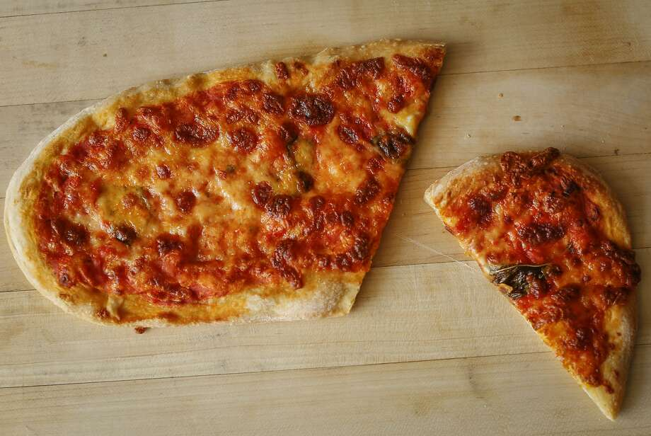 One in the package of the  Pizza Politana Pizzetta Duo is seen on Wednesday, May 13, 2015 in San Francisco, Calif. Photo: Russell Yip, The Chronicle