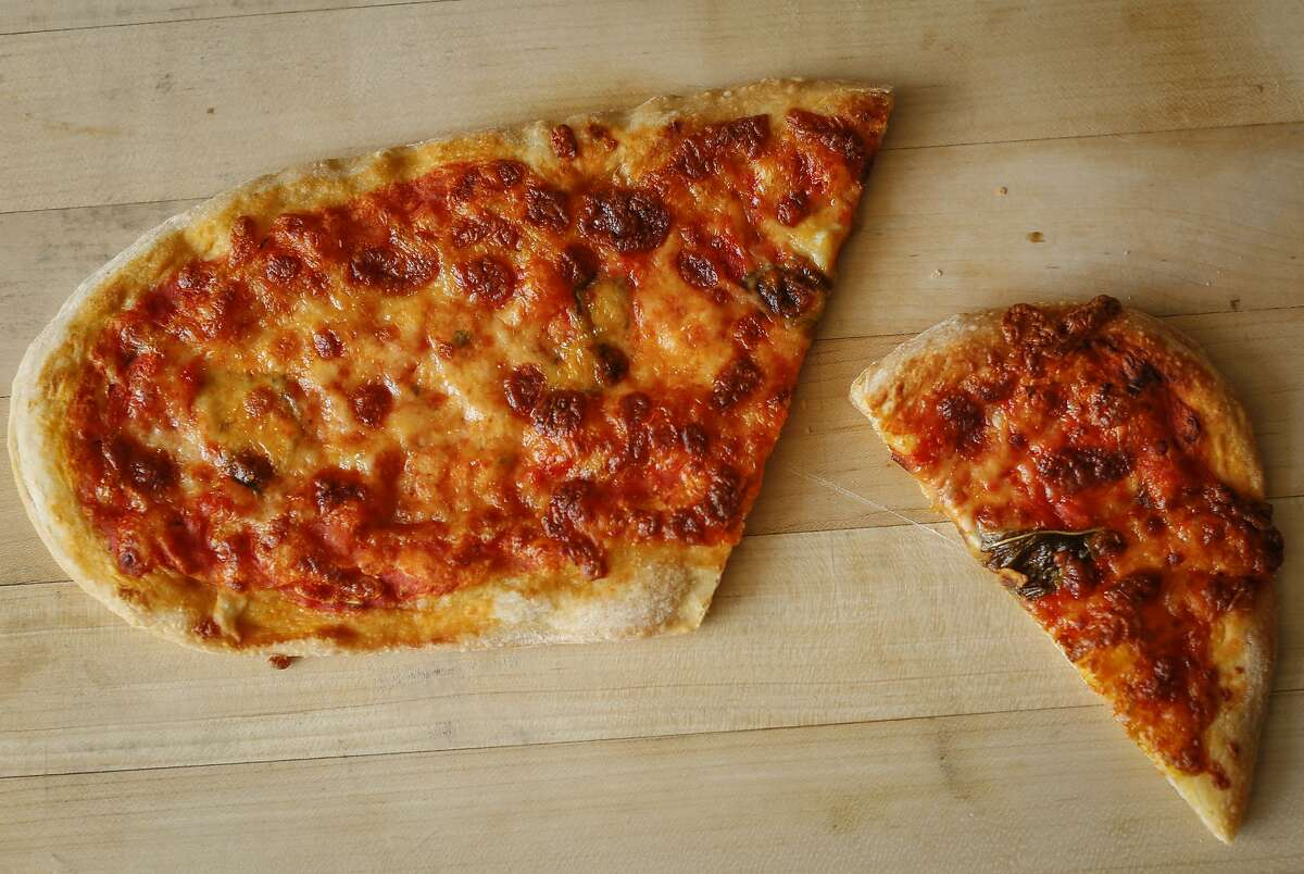 One in the package of the Pizza Politana Pizzetta Duo is seen on Wednesday, May 13, 2015 in San Francisco, Calif.