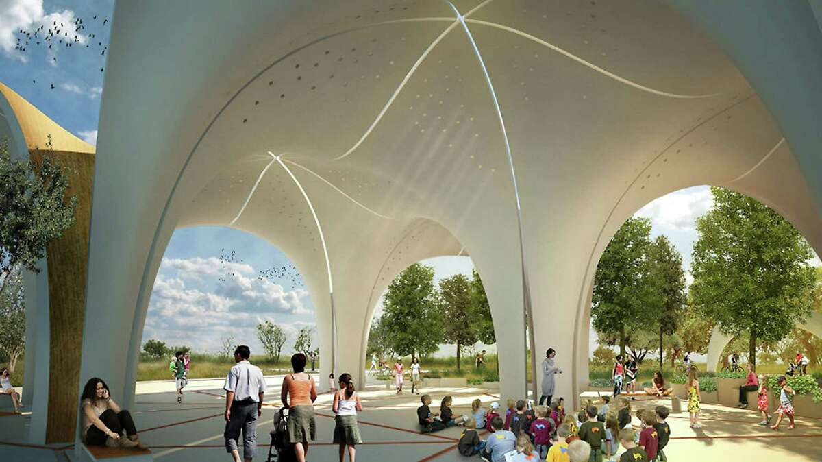 Rendering of the pavillion area for the Confluence Park improvement plans.
