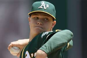 Severe stomach bug keeps A's Sonny Gray in hospital - Photo