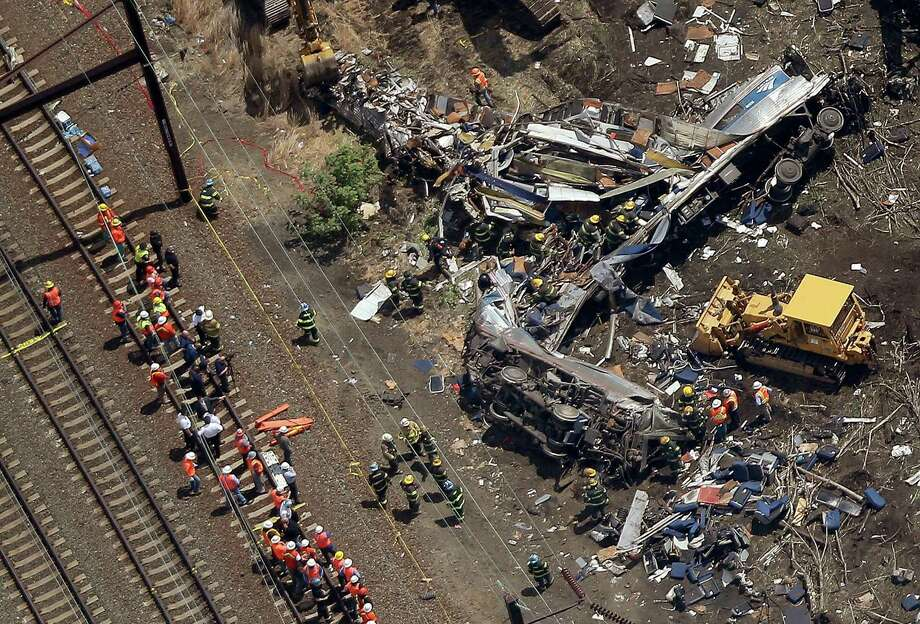 Officials say the train's speed was recorded in data recorders that were recovered from the wreckage while emergency crews searched for more survivors and victims of the wreck. Photo: Win McNamee /Getty Images / 2015 Getty Images