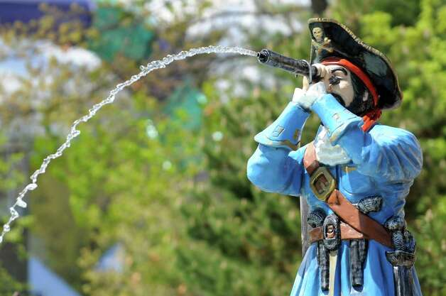 A water-spouting Capt. Hook is part of the new Buccaneer Beach waterpark on Wednesday, May 13, 2015, at Great Escape in Queensbury, N.Y. (Cindy Schultz / Times Union) Photo: Cindy Schultz / 00031796A