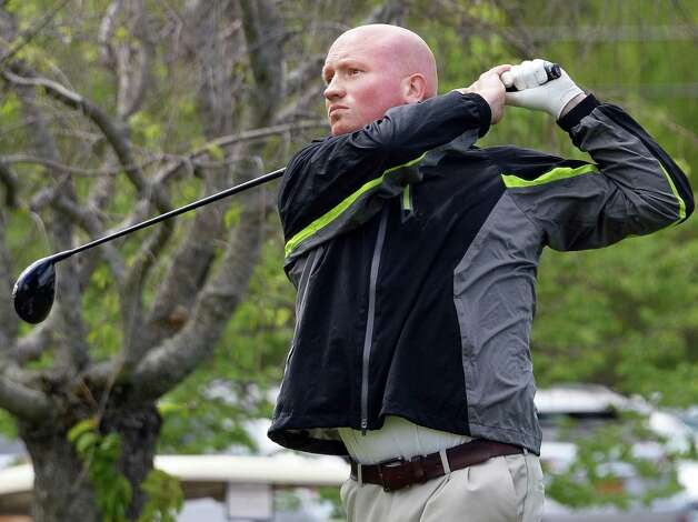 Pete Lindner tees off in the annual Challenge Cup pros vs. amateurs team competition between the Northeastern New York PGA and the Capital Region Amateur Golf Association at the Edison Club Wednesday May 13, 2015 in Rexford, NY.  (John Carl D'Annibale / Times Union) Photo: John Carl D'Annibale / 00031818A