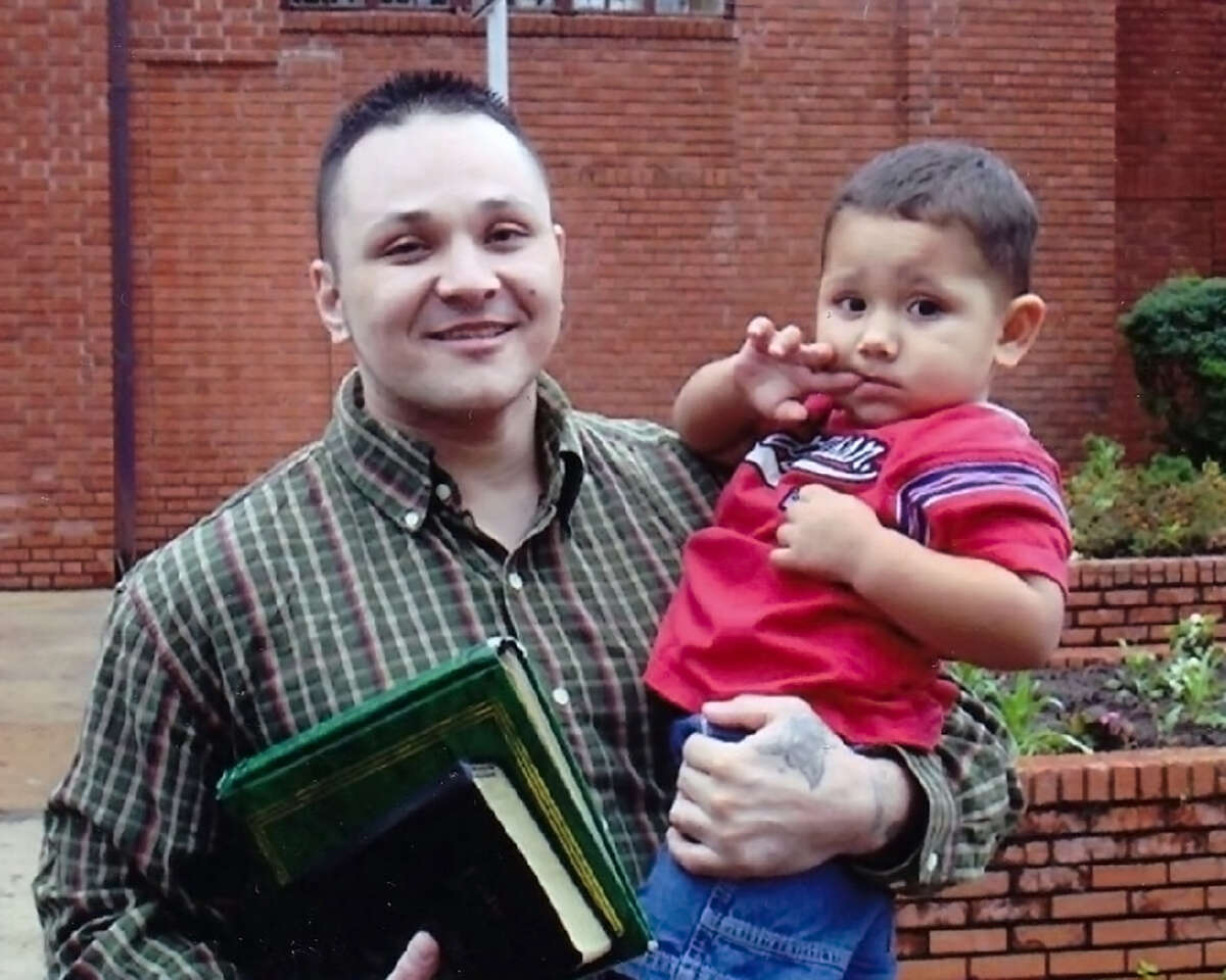Jesse Aguirre with his son, Jesse Aguirre, Jr. in 2009.