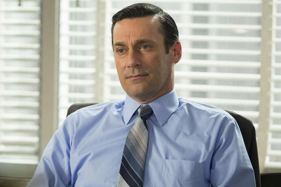 """This image released by AMC shows Jon Hamm as Don Draper in a scene from the final season of """"Mad Men."""" The series finale airs on Sunday.  (Justina Mintz/AMC via AP) Photo: Justina Mintz, Associated Press"""