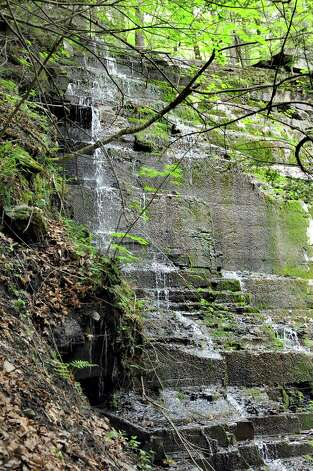 The waterfalls on Wednesday, May 13, 2015, at Plotter Kill Nature Preserve in Rotterdam, N.Y. Carly Sinnott, 17, died after she fell while hiking with friends on Tuesday. (Cindy Schultz / Times Union) Photo: Cindy Schultz / 00031832A