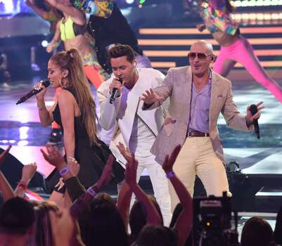 AMERICAN IDOL XIV: L-R: Jennifer Lopez, Prince Royce and OPitbull perform during the AMERICAN IDOL XIV seas AMERICAN IDOL XIV: L-R:  perform during the AMERICAN IDOL XIV season Finale airing Wednesday May, 13 (8:00-10:06 PM ET/PT) on FOX. CR: Frank Micelotta / FOX © 2105 FOX Broadcasting Co. on Finale airing Wednesday May, 13 (8:00-10:06 PM ET/PT) on FOX. CR: Frank Micelotta / FOX © 2105 FOX Broadcasting Co.