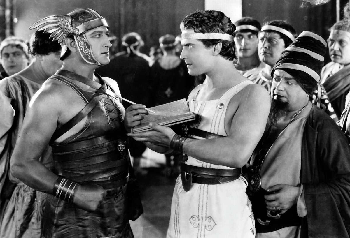 """Francis X. Bushman and Ramon Novarro in the 1925 silent film """"Ben Hur: A Tale of the Christ."""""""