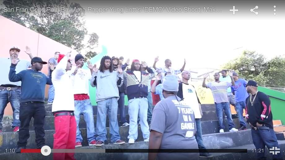 Suit says S F  police harassed men in raid during rap video