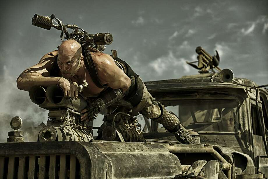 "This photo provided by Warner Bros. Pictures shows, Nathan Jones as Rictus Erectus, in Warner Bros. Pictures' and Village Roadshow Pictures' action adventure film, ""Mad Max:Fury Road,"" a Warner Bros. Pictures release. (Jasin Boland/Warner Bros. Pictures via AP) Photo: Jasin Boland, Associated Press"