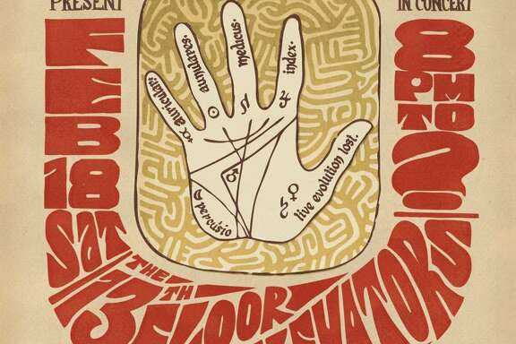 Program cover from the 13th Floor Elevators' legendary performance at Houston Music Theatre, February 18, 1967.