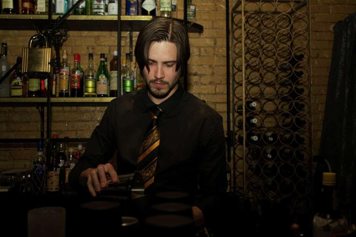 Jordan Corney is working the bar at Juniper Tar.