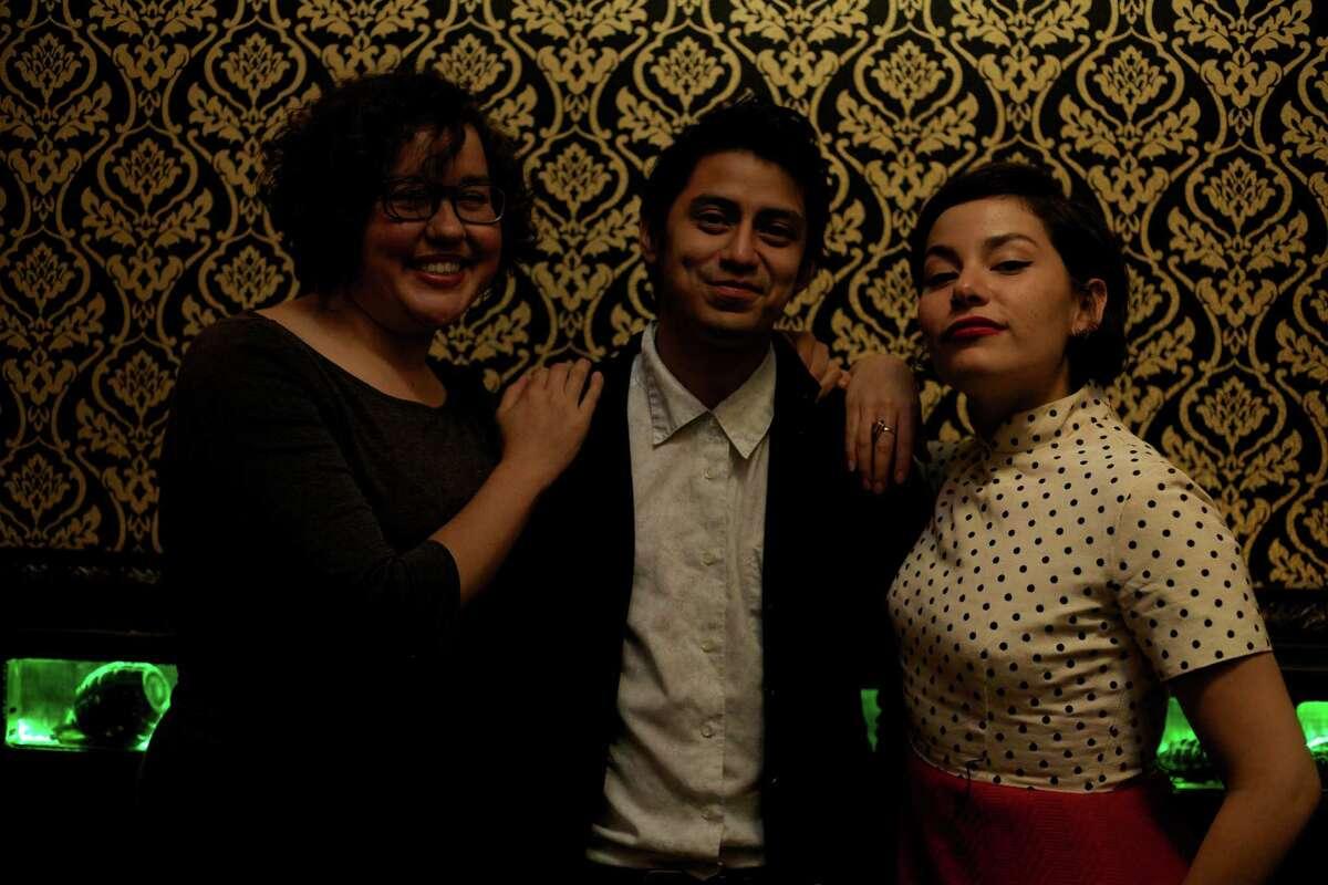 Allis Ozornia (from left), Jesus Flores and Mona Sosa