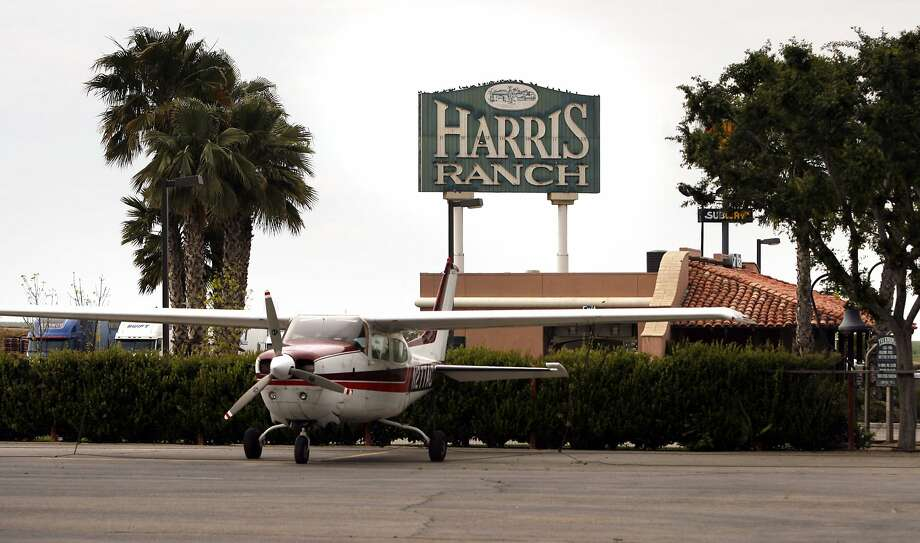 Harris RanchIf you want to fly over the Coalinga stink, you can land at Harris Ranch. The venerable I-5 steakhouse and inn has a landing strip and welcomes pilots. Photo: Kim Komenich, SFC