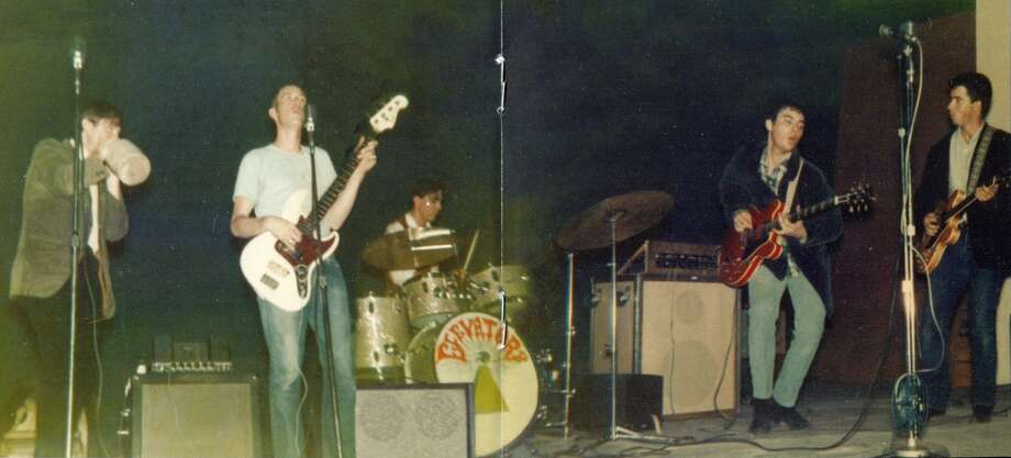 1967 lsd the 13th floor elevators on a spinning stage for 13th floor elevators band