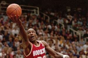 4. 1995 West quarterfinal, Game 5       In a decisive Game 5 at Salt Lake City, the Rockets trailed the Jazz by eight points with less than five minutes left in the fourth quarter before Hakeem Olajuwon and Clyde Drexler rallied them to a 95-91 victory to cap a comeback from 2-1 down in the best-of-5 series.