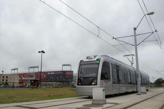 The METRO rail is seen along Scott Street near the University of Houston, Wednesday, May 13, 2015, in Houston.