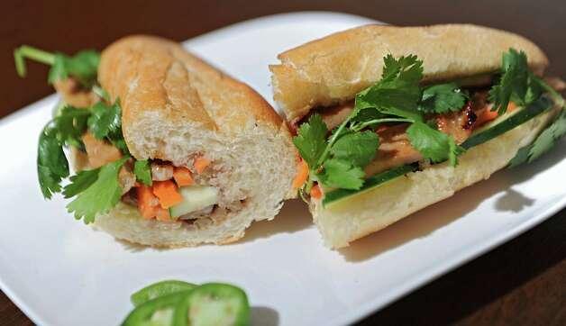 BBQ pork vietnamese sandwich at Saigon Pearl restaurant on Friday, May 8, 2015 in Albany, N.Y. (Lori Van Buren / Times Union) Photo: Lori Van Buren / 00031766A