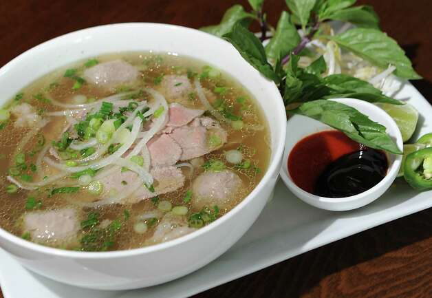 Saigon Pearl special pho Vietnamese noodle soup at Saigon Pearl restaurant on Friday, May 8, 2015 in Albany, N.Y. (Lori Van Buren / Times Union) Photo: Lori Van Buren / 00031766A
