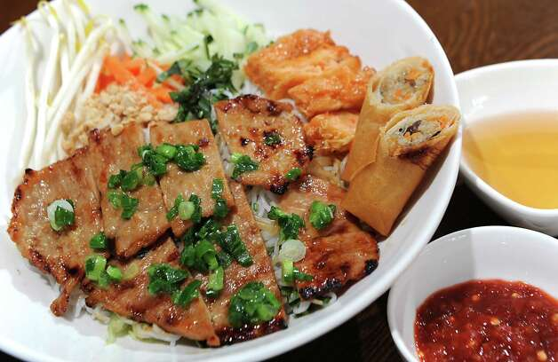 Saigon Pearl special rice vermicelli bowl at Saigon Pearl restaurant on Friday, May 8, 2015 in Albany, N.Y. (Lori Van Buren / Times Union) Photo: Lori Van Buren / 00031766A