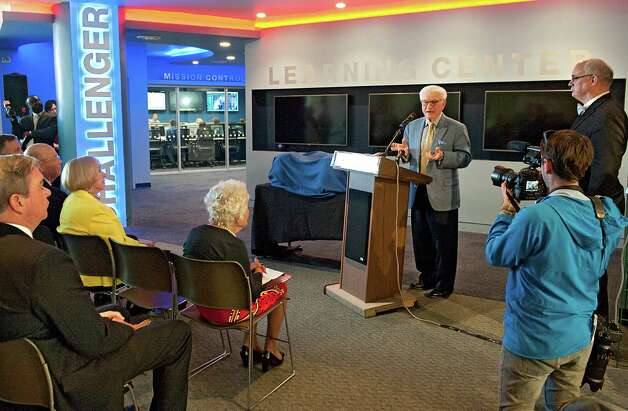 Neil Golub speaks during the opening of the new Challenger Learning Center at the Museum of Innovation and Science on Thursday May 14, 2015 in Schenectady, N.Y.  (Lori Van Buren / Times Union) Photo: Lori Van Buren / 00031850A
