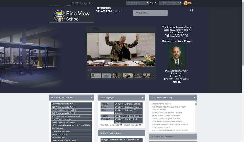 #24: Pine View SchoolLocation: Osprey, Fla.Student/teacher: 18 to 1College readiness: 97.7