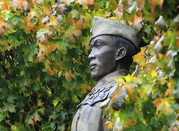 The Battle of Henry Johnson statue in Washington Park Thursday, Oct. 4, 2012 in Albany, N.Y.  (Lori Van Buren / Times Union) Photo: Lori Van Buren / 00019541A
