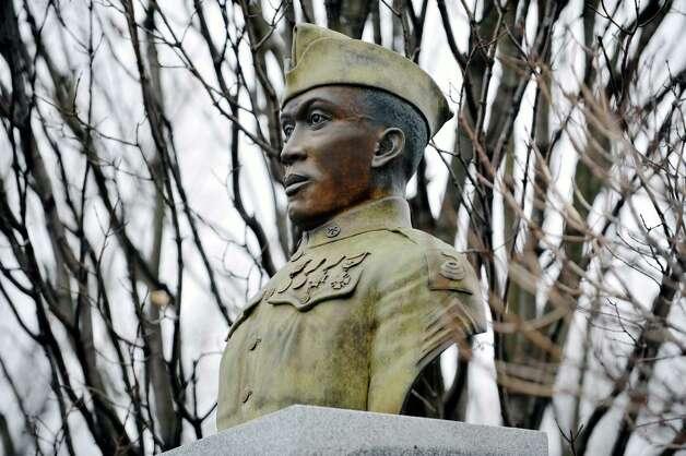 A view of the Henry Johnson statue in Washington Park on Wednesday, Dec. 3,  2014, in Albany, N.Y.  (Paul Buckowski / Times Union) Photo: Paul Buckowski / 00029728A