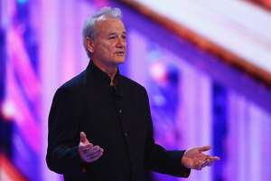 SHANGHAI, CHINA - APRIL 15:  Actor Bill Murray onstage announces the Laureus World Sportsman of the Year award during the 2015 Laureus World Sports Awards show at the Shanghai Grand Theatre on April 15, 2015 in Shanghai, China.  (Photo by Ian Walton/Getty Images for Laureus)