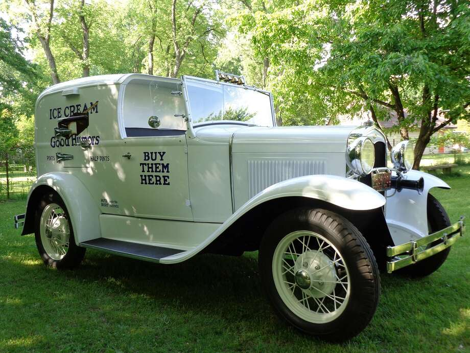 The restored 1931 Good Humors Ice Cream truck sits in the Ford Model A Museum in Kalamazoo, Michigan. The truck is Model A Ford with a 201-cubic inch, four-cylinder engine that produces 40 horsepower.