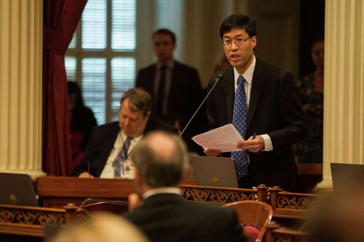 California state Sen. Richard Pan speaks at the state Capitol in Sacramento in support of SB277, which he co-authored. The legislation is an effort to close California's vaccine loophole. The bill passed the state Senate and now moves on to the Assembly.
