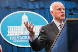 California Gov. Jerry Brown announces his revised state budget at the State Capitol in Sacramento, California, May 14, 2015. Brown's budget revise includes increased funding for schools, the rainy day fund, and creates a new state earned income credit.