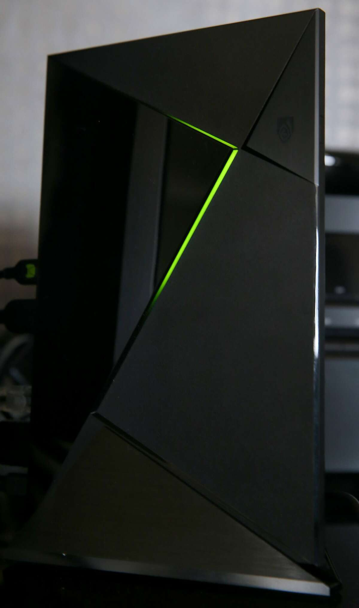 Developers demonstrate the Nvidia Shield video streaming device in San Francisco, Calif. on Thursday, May 14, 2015. The Shield runs on the Android TV operating system and is capable of streaming 4K Ultra high definition video content as well as a number of games. NOTE: STORY AND PHOTOS ARE EMBARGOED UNTIL 12:00 PM ON THURSDAY, MAY 28, 2015.