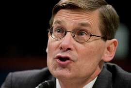 FILE - In this April 2, 2014, file photo, former CIA Deputy Director Michael Morell testifies on Capitol Hill in Washington, before the House Intelligence Committee. The former CIA official says in a new book that President Barack Obama ordered a barrage of drone strikes in Yemen in 2013 that killed the al-Qaida operatives behind the most serious plotting against American interests in years. (AP Photo/Manuel Balce Ceneta, File)
