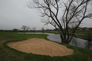 Water features like this pond near the 17th green add to the beauty of the Northcliffe Golf Club, shown in 2012.