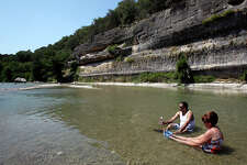 Water levels remain tolerable at Guadalupe River State Park on June 17, 2011.