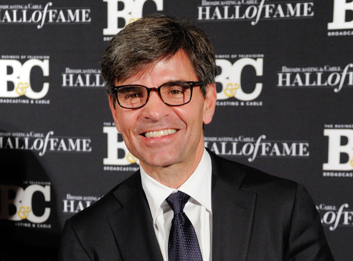 This file photo shows George Stephanopoulos at the 24th Annual Broadcasting and Cable Hall of Fame Awards in New York. Stephanopoulos apologized last year for not notifying his employer and viewers about two contributions totaling $50,000 that he made to the Clinton Foundation.