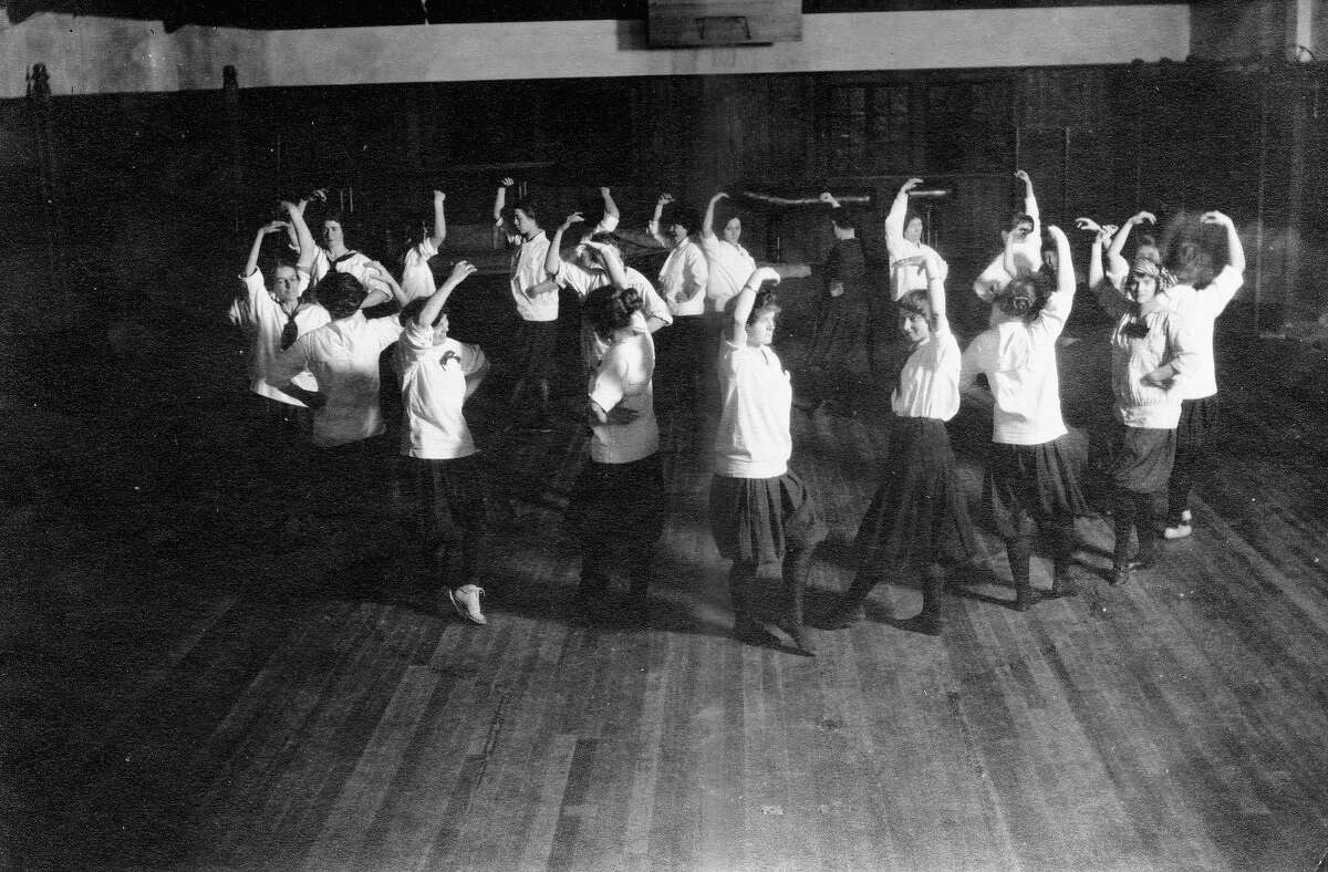 Dancers pictured at the Ballard Field House in 1914.