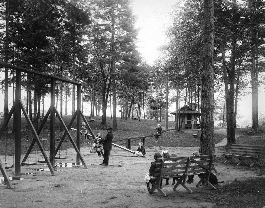 Salmon Bay Park, pictured 1910. Photo: Seattle Municipal Archive