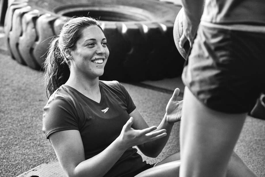 Sarah Rodriguez, a graduate of Incarnate Word High School, goes through a training session as a member of the U.S. synchronized swimming team. Photo: Courtesy Photo / Aaron Okayama / AARON OKAYAMA PHOTOGRAPHY