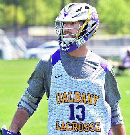 UAlbany lacrosse #13 Tim Cox during practice Thursday May 14, 2015 in Albany, NY.  (John Carl D'Annibale / Times Union) Photo: John Carl D'Annibale / 00031849A