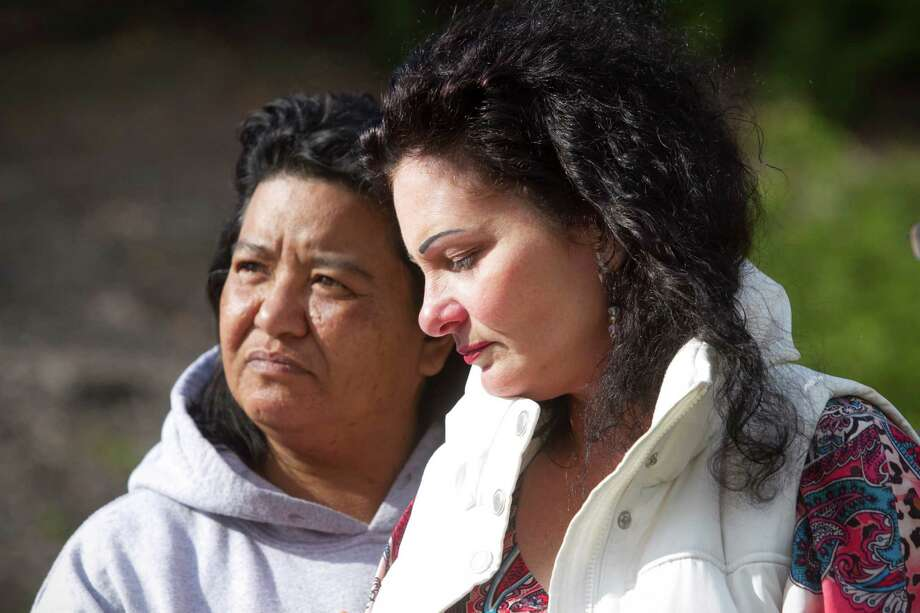 Mother Jamie Rusk, right, and Sandra Ramirez, left, the aunt of 17-year-old student Kenneth Maxwell Rusk who was shot and killed on a trail off of Ascot Parkway near Jesse Bethel High School in Vallejo, California on Thursday, May 14, 2015. Photo: Chris Preovolos / Chris Preovolos / ONLINE_YES