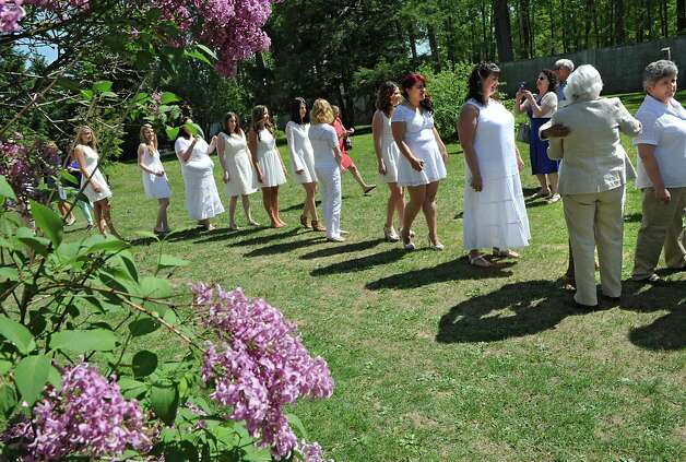 Graduating nurses arrive at the annual white tea and nursing pinning ceremony at Maria College on Thursday May 14, 2015 in Albany, N.Y.  (Lori Van Buren / Times Union) Photo: Lori Van Buren / 10031843A
