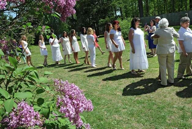Graduating nurses arrive at the annual white tea and nursing pinning ceremony at Maria College on Thursday May 14, 2015 in Albany, N.Y.  (Lori Van Buren / Times Union) Photo: Lori Van Buren / 10031843A