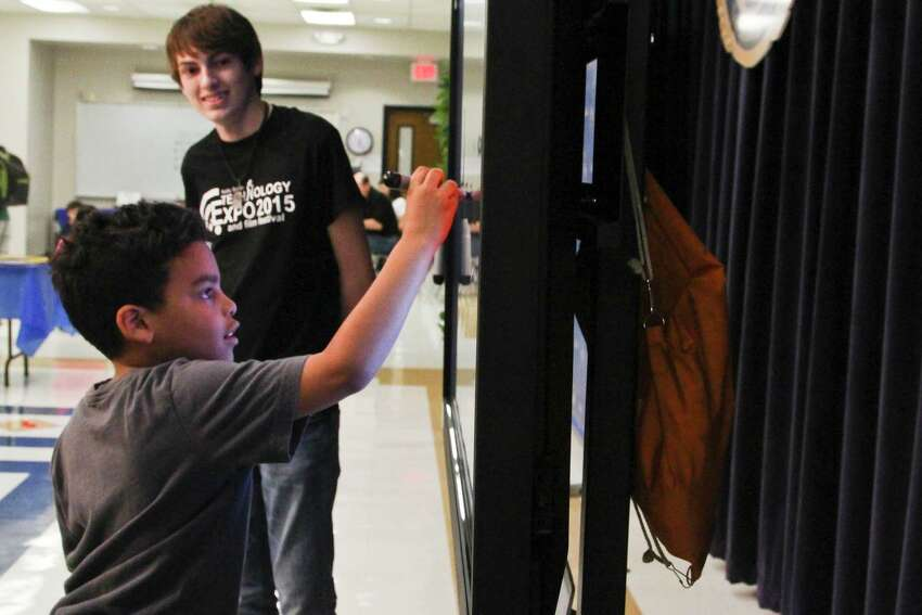 Hundreds of students and members of the public came to show off how technology plays a part in the classroom Thursday at the Kelly Smith Technology Expo and Film Festival at the Paul Taylor Field House and Northside Activity Center.