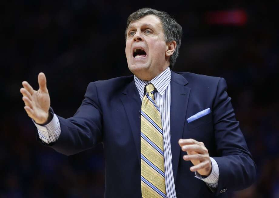 Houston Rockets head coach Kevin McHale makes a call during the second half of Game 6 of the NBA Western Conference semifinals against the Los Angeles Clippers at the Staples Center Thursday, May 14, 2015, in Los Angeles.  ( James Nielsen / Houston Chronicle ) Photo: Houston Chronicle