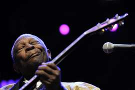 (FILES): Thid July 3, 2011 file photo shows US blues artist B.B. King performing during the 45th Montreux Jazz Festival in Montreux.   According to May 15, 2015 US media reports B.B. King has died at the age of 89 in Las Vegas, Nevada.  AFP PHOTO /  FILES / FABRICE COFFRINIFABRICE COFFRINI/AFP/Getty Images