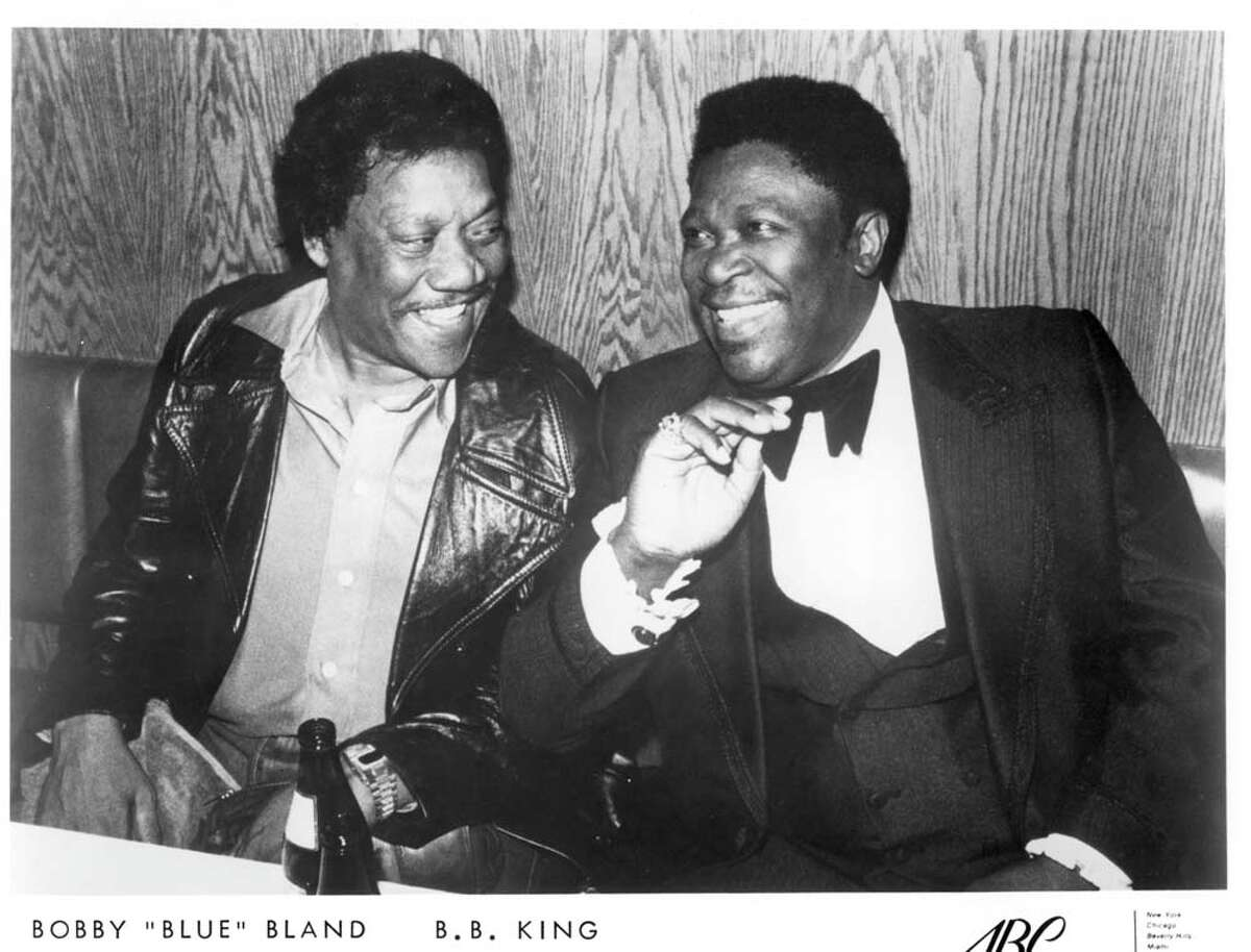 """(Left) Bobby """"Blue"""" Bland and (right) B.B. King."""