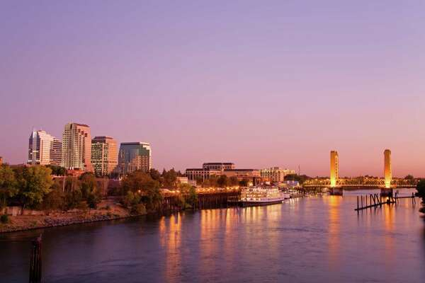 Sacramento River and skyline.