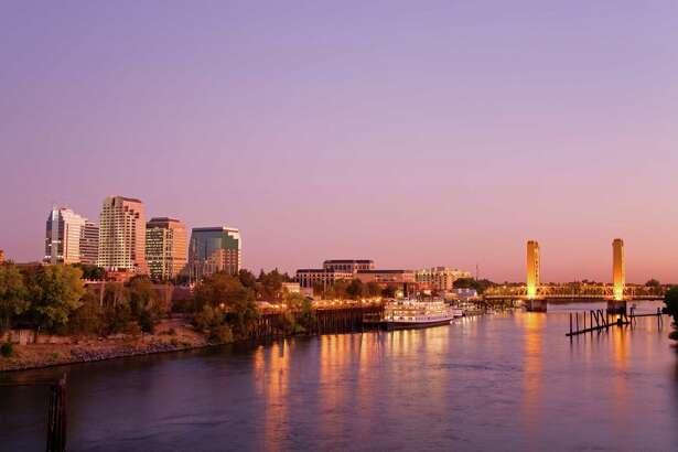 Sacramento River and skyline.